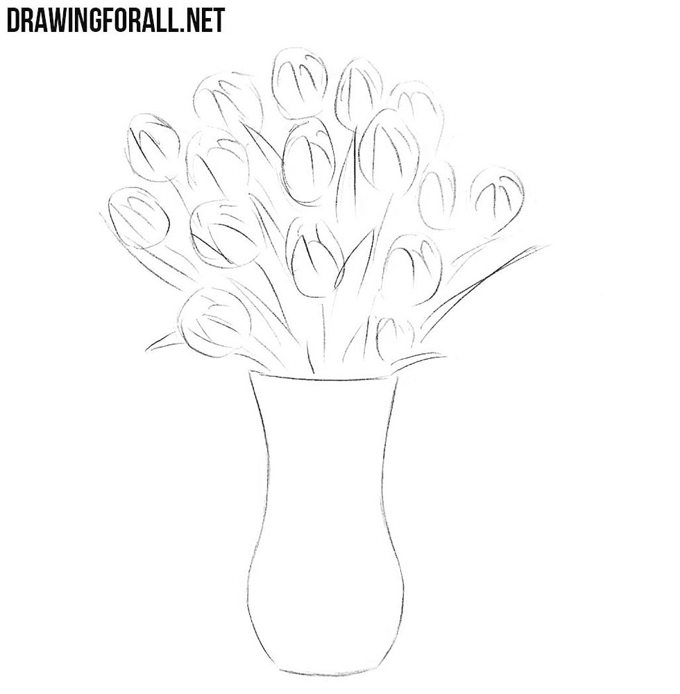 how to draw a vase with flowers step by step step by step drawing flowers beginner at getdrawings to a flowers how step with vase by draw step