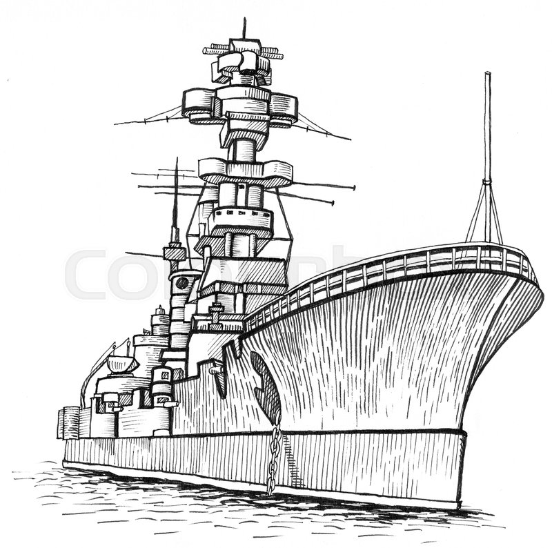 how to draw a war ship pencil drawing of german battleship bismarck by me with how draw to ship a war