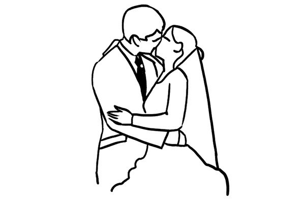 how to draw a wedding couple cartoon the bride and groom during the wedding ceremony wedding a couple draw to how