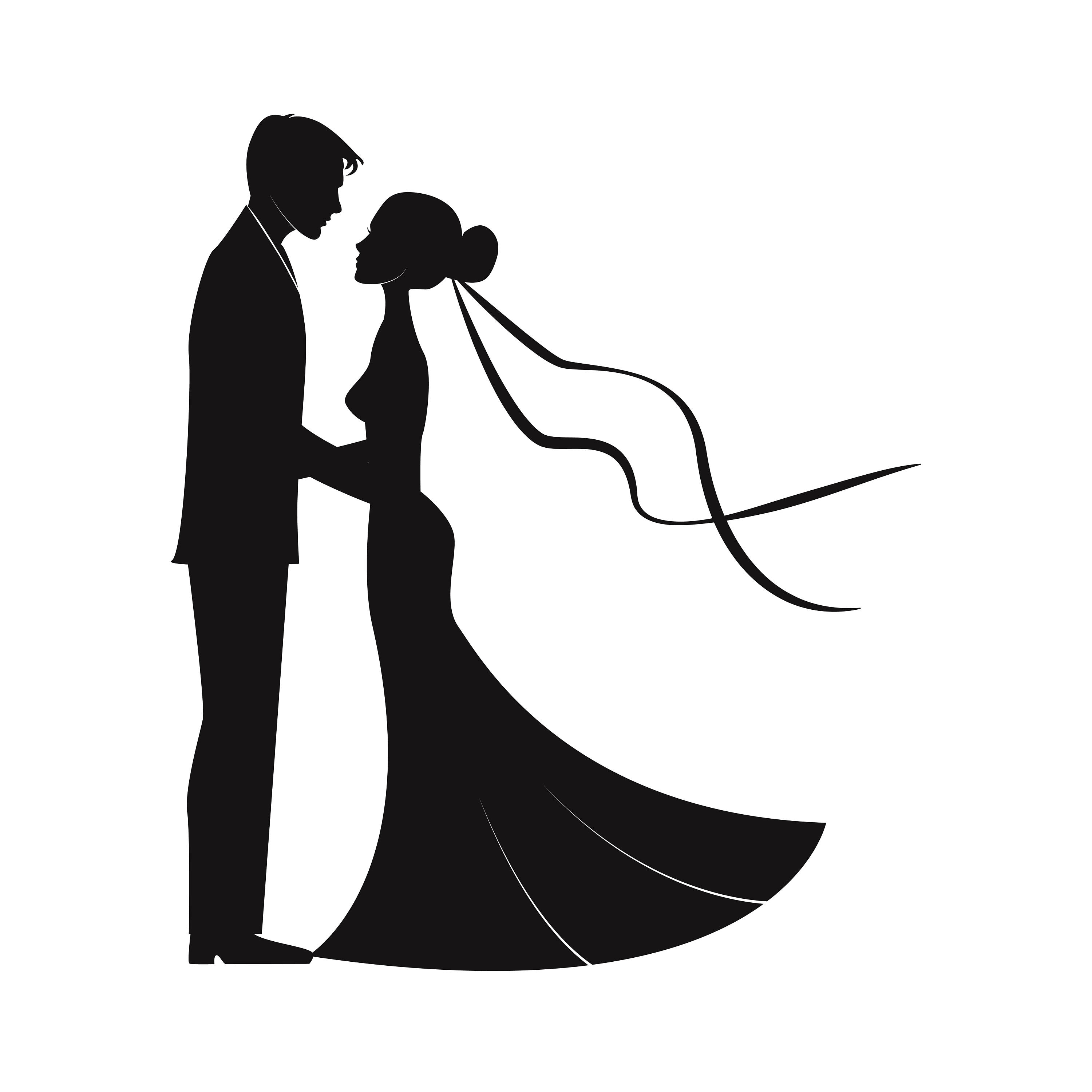 how to draw a wedding couple clipart art wedding couple wedding silhouette bride couple to wedding a draw how