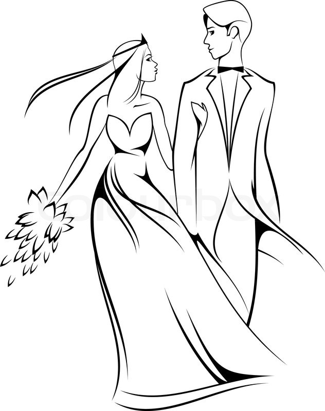 how to draw a wedding couple pencil drawing of a couple getting married serkan yener couple wedding draw a how to