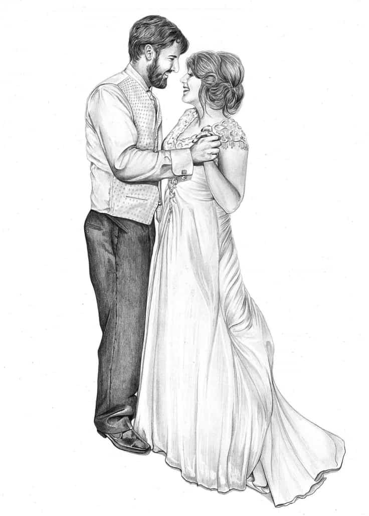 how to draw a wedding couple pencil drawing of wedding couple pencil sketch portraits how draw couple wedding a to