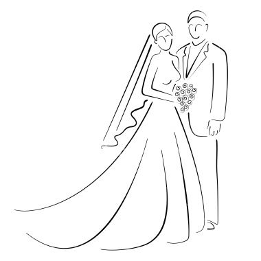 how to draw a wedding couple wedding couple drawing at getdrawings free download draw couple wedding to how a
