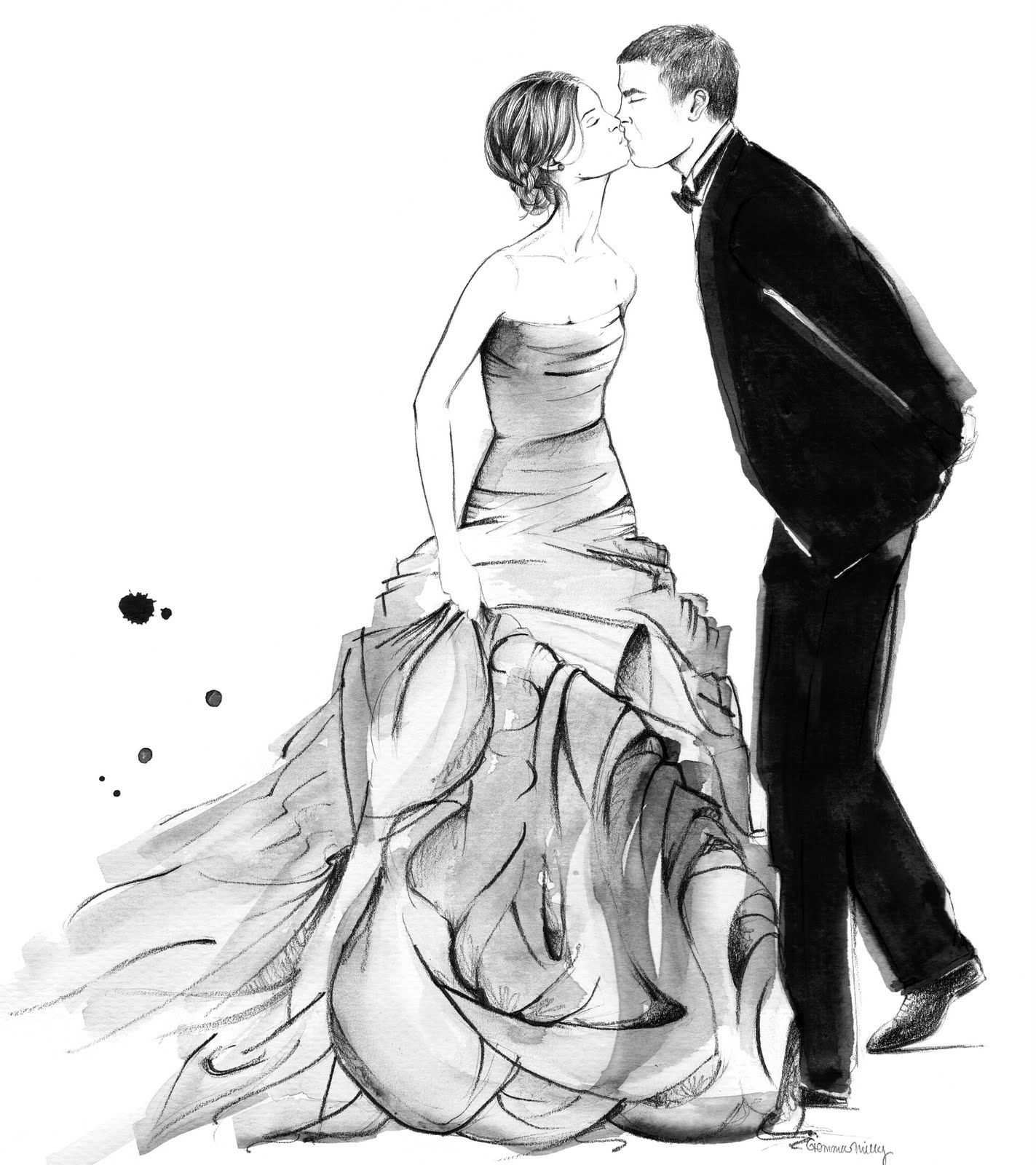how to draw a wedding couple wip just married by littleseasparrowdeviantartcom on couple how to wedding a draw