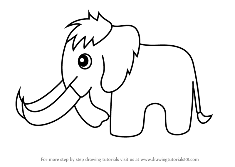 How to draw a woolly mammoth step by step