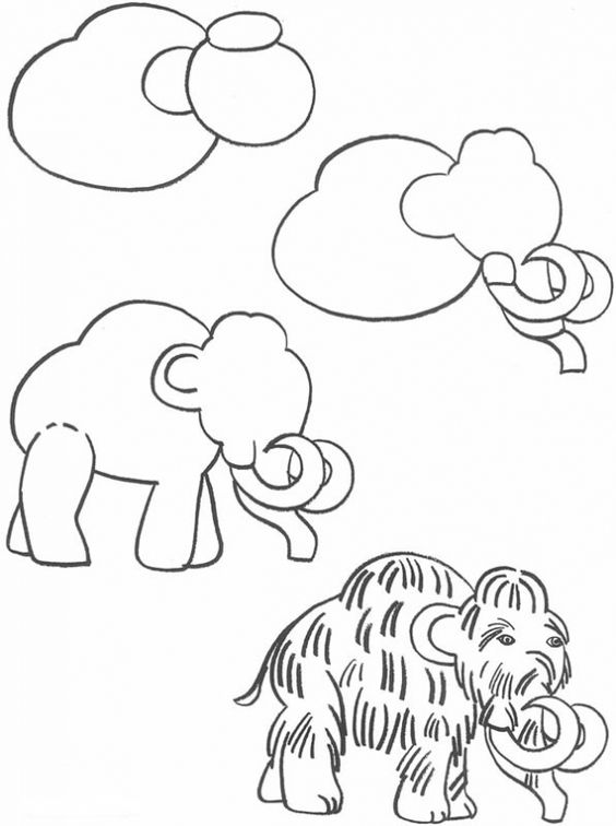how to draw a woolly mammoth step by step mammoth drawing gallery by how step step woolly a draw to mammoth