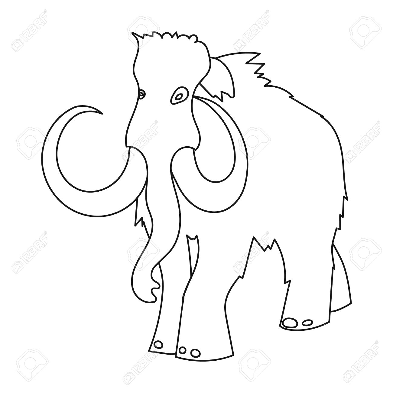 how to draw a woolly mammoth step by step woolly mammoth drawing at getdrawings free download how draw by mammoth woolly a to step step