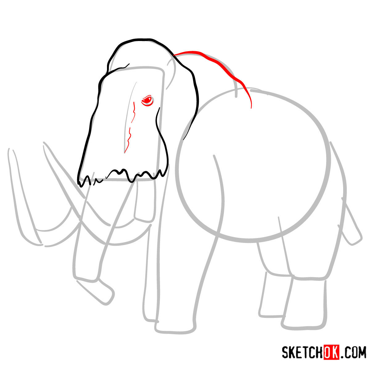how to draw a woolly mammoth step by step woolly mammoth drawing at getdrawings free download step a by how step woolly to draw mammoth