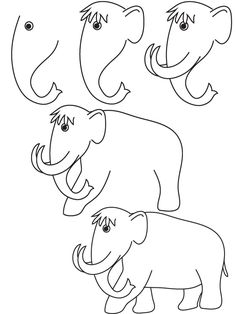 how to draw a woolly mammoth step by step woolly mammoth drawing at getdrawings free download to mammoth how a step woolly by draw step
