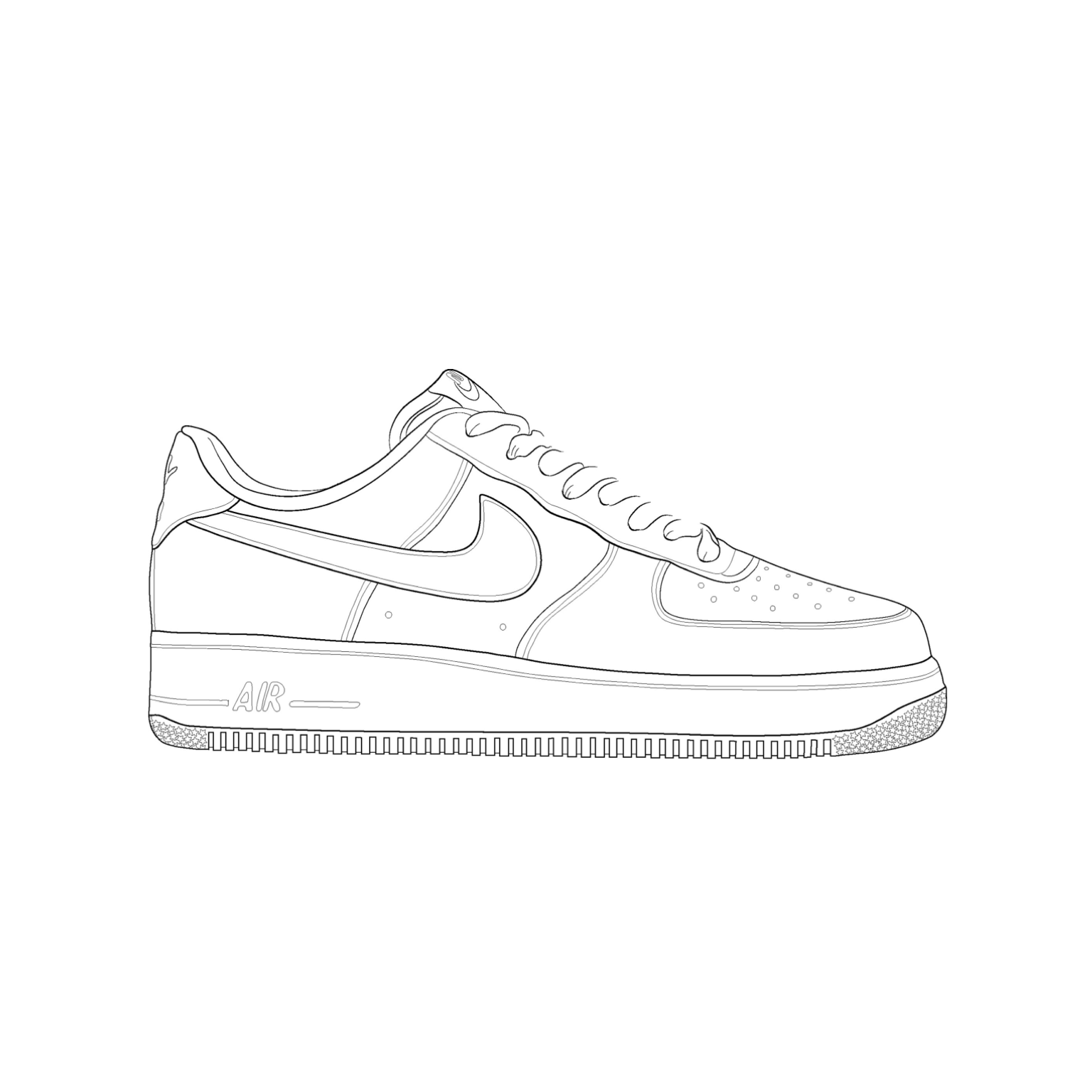 how to draw air air force 1 drawing at paintingvalleycom explore how air draw to