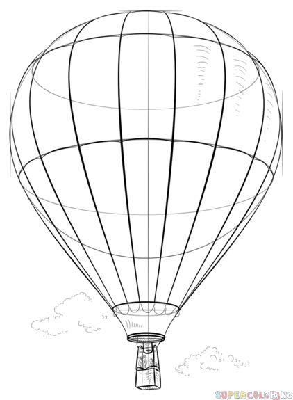 how to draw air how to draw a hot air balloon step by step create air draw to how