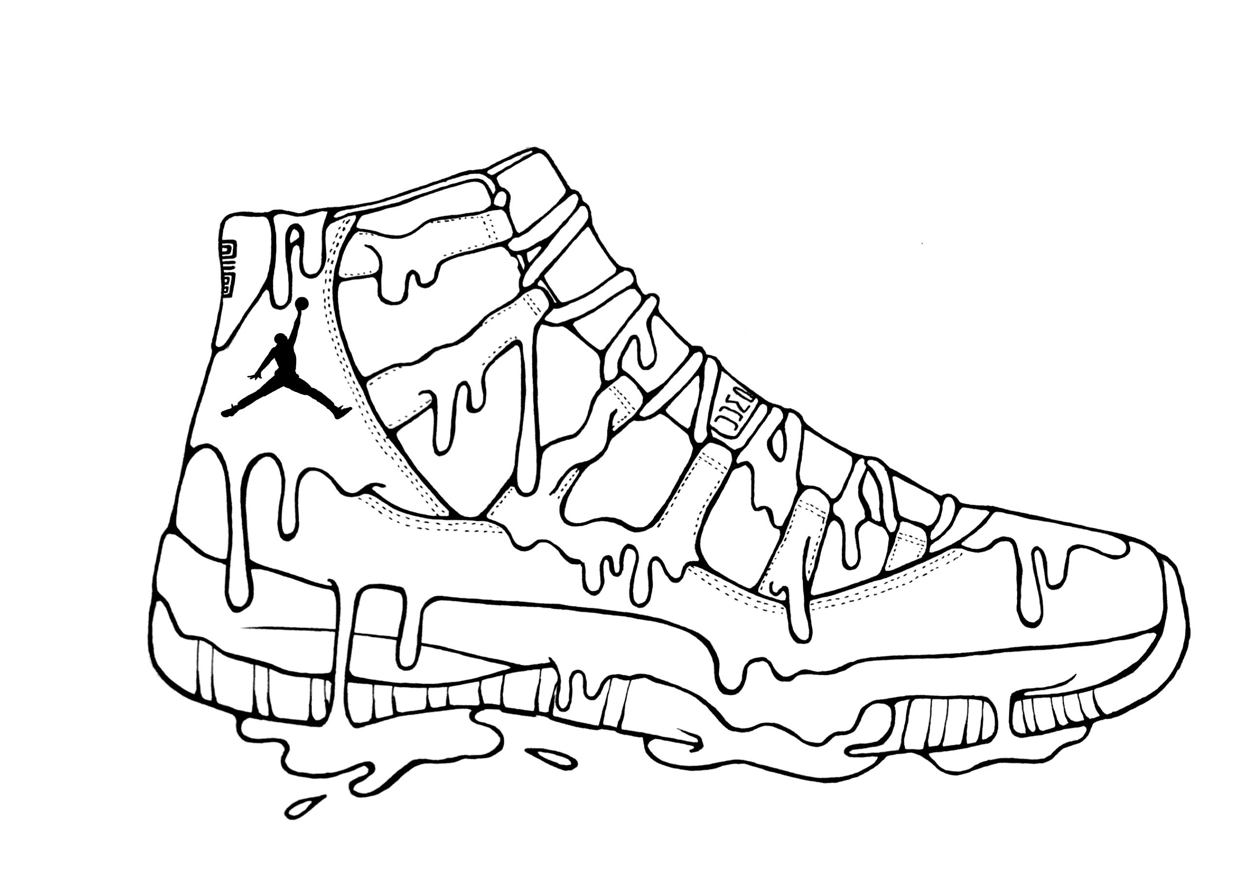how to draw air jordan 11 drawing at paintingvalleycom explore draw to how air