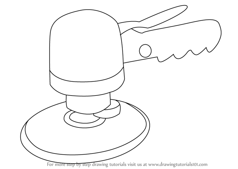 how to draw air learn how to draw air sander tools step by step air to draw how
