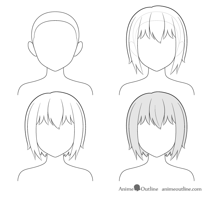 how to draw an anime girl step by step pin on drawing ideas girl draw by anime to step step an how