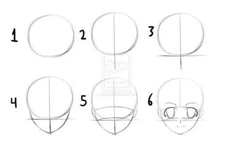 how to draw anime girl step by step anime drawings for beginners step by viewing gallery face anime girl to draw how by step step