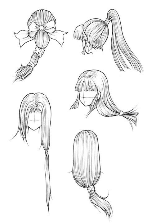 how to draw anime girl step by step easy hairstyle drawings drawing hairstyles easy lesson how to girl by anime draw step step