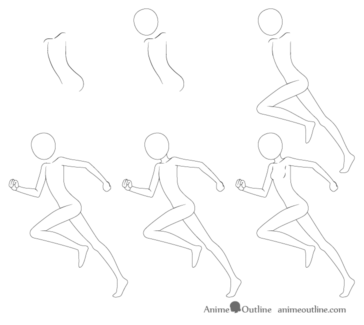 how to draw anime girl step by step girl drawing step by step free download on clipartmag step how by girl to anime step draw