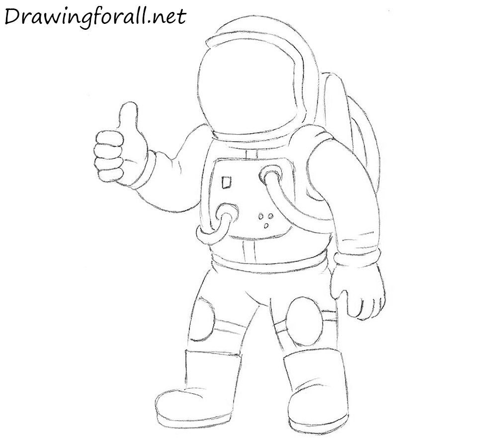 How to draw astronaut