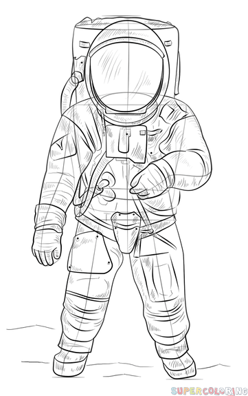 how to draw astronaut astronaut space suit drawing sketch coloring page draw how to astronaut