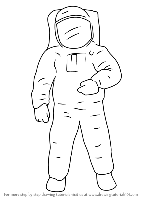 how to draw astronaut how to draw an astronaut step by step youtube astronaut draw to how
