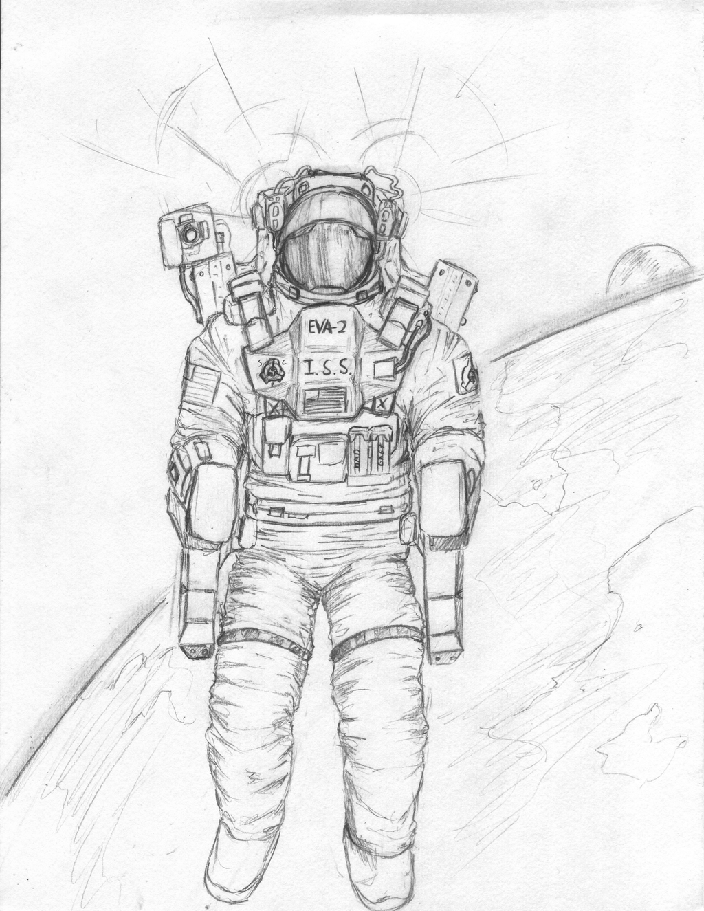 how to draw astronaut illustration of astronaut spaceman in suit astronaut draw how astronaut to