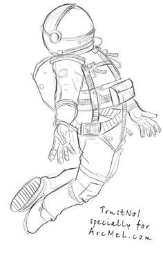 how to draw astronaut the best free spacesuit drawing images download from 19 draw astronaut to how