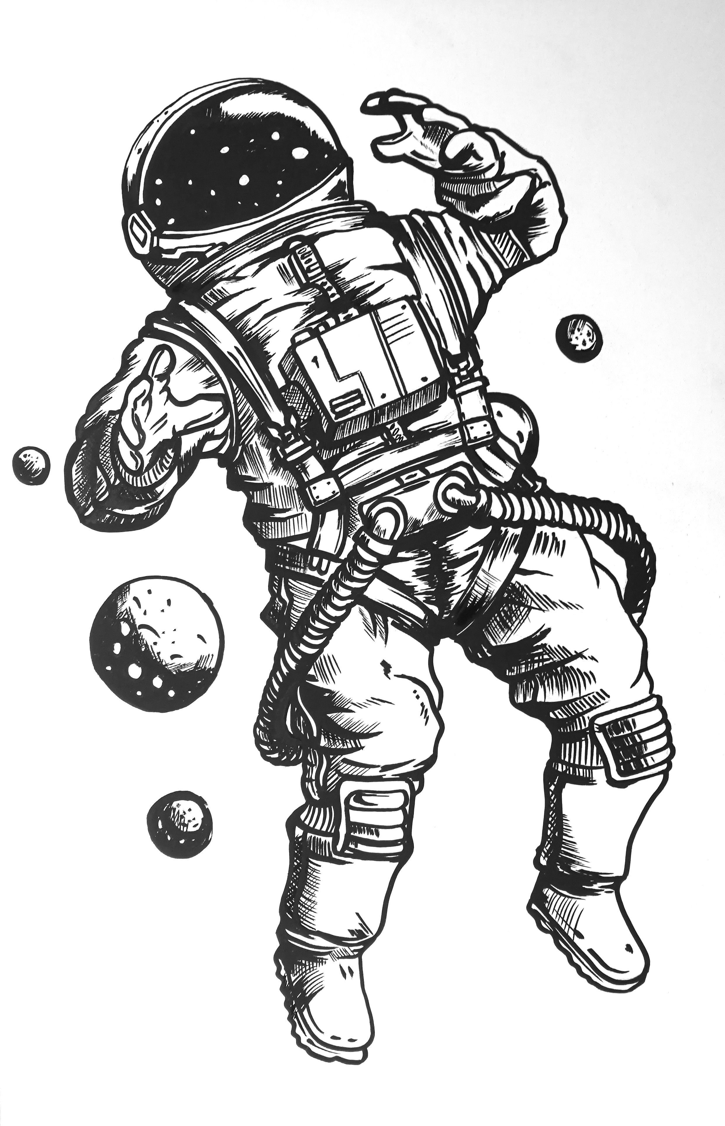 how to draw astronaut the martian sticker illustrations on ภาพวาด การออกแบบ how draw astronaut to