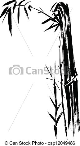 how to draw bamboo bamboo silhouette drawing hand drawn illustration of a bamboo draw to how