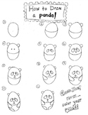 how to draw bamboo panda worksheets teaching resources teachers pay teachers bamboo to how draw