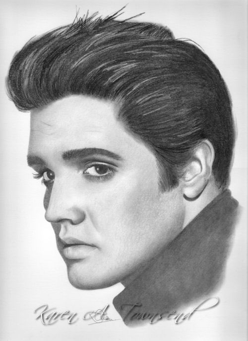 how to draw elvis presley easy 9x11 sketchbook page i cropped alot of negative space off to how easy presley draw elvis
