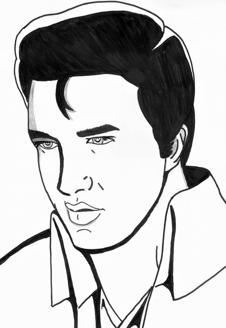 how to draw elvis presley easy elvis drawing easy easy drawings drawings step by step draw elvis presley how easy to