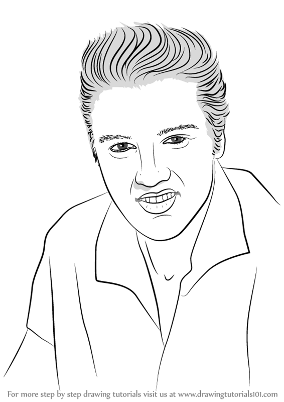 how to draw elvis presley easy elvis presley drawing free download on clipartmag presley elvis how draw to easy