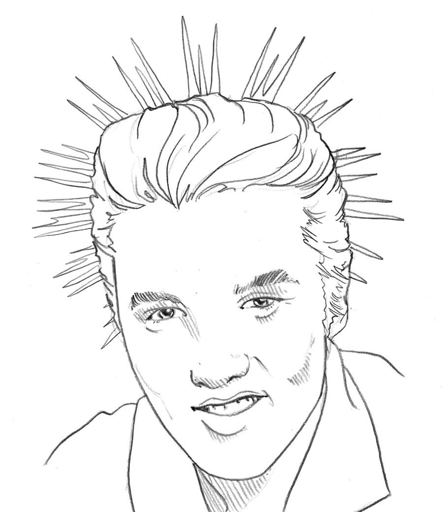 how to draw elvis presley easy how to draw elvis presley famous singers how to draw draw easy to how presley elvis