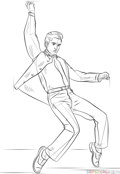 how to draw elvis presley easy how to draw elvis presley step 6 elvis presley elvis draw how to easy presley elvis