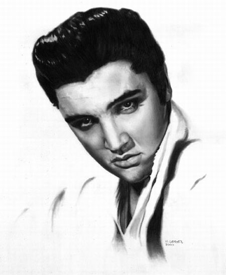 how to draw elvis presley easy incredible pencil art 14 pics tegning elvis draw to easy how presley