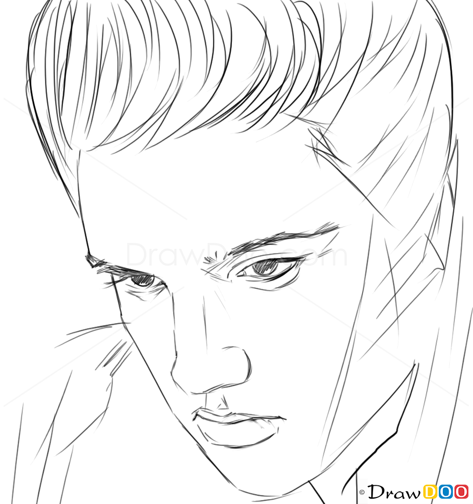 how to draw elvis presley easy learn how to draw elvis presley singers step by step presley draw to elvis easy how