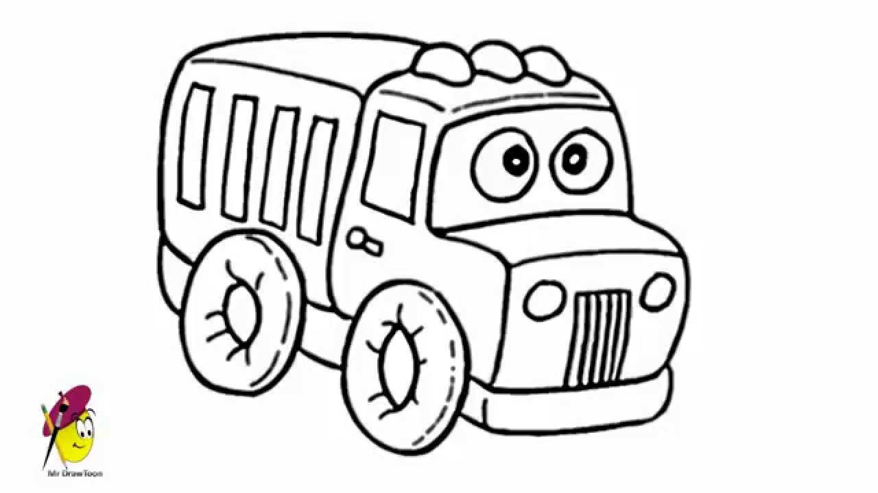 how to draw fire truck cartoon fire truck how to draw a fire truck youtube to draw truck fire how