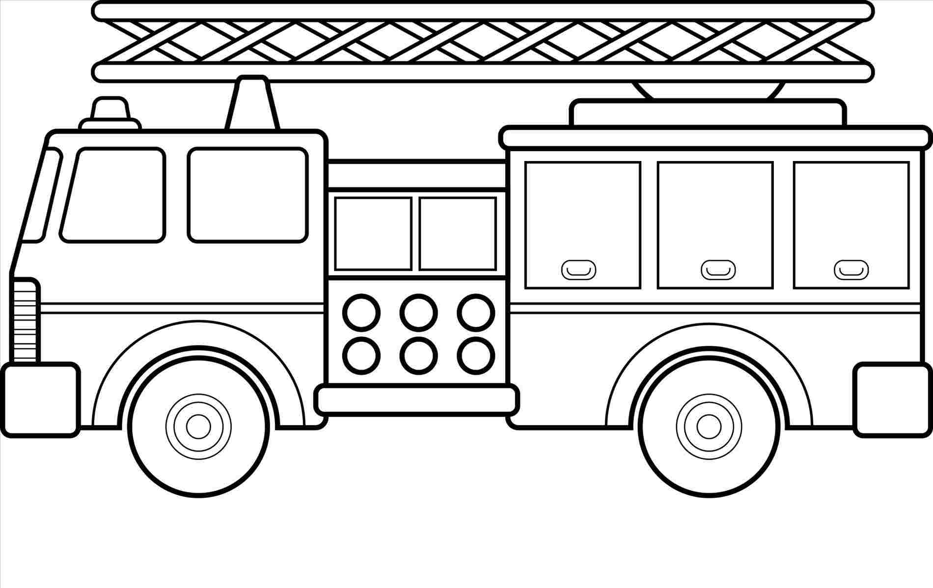 How to draw fire truck