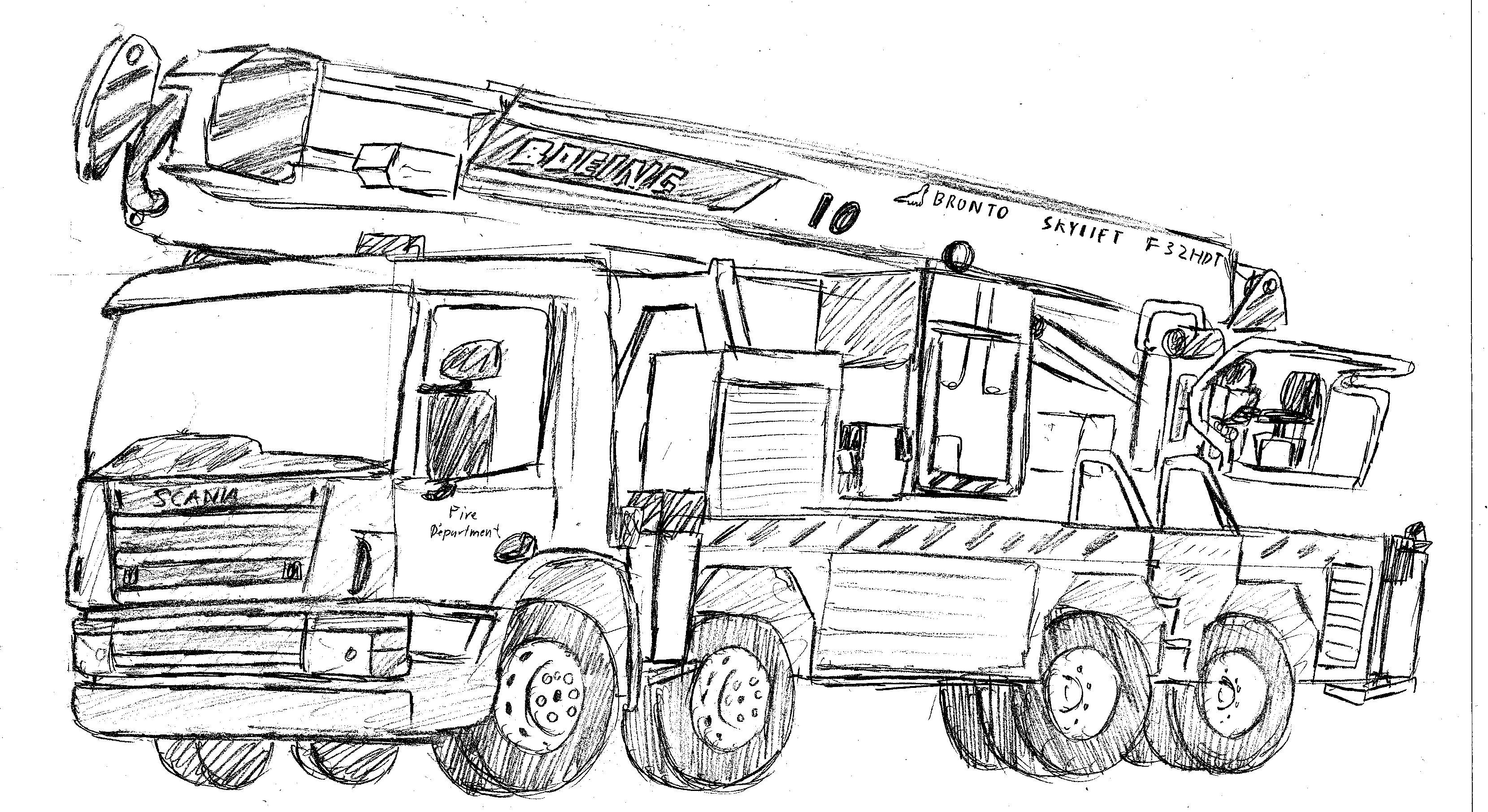how to draw fire truck fire truck by dragonslayersair on deviantart truck fire to how draw