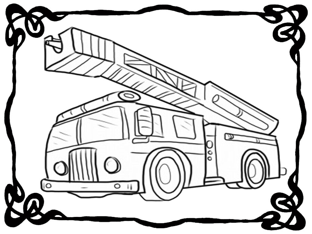 how to draw fire truck fire truck drawing for kids at getdrawings free download draw how to truck fire