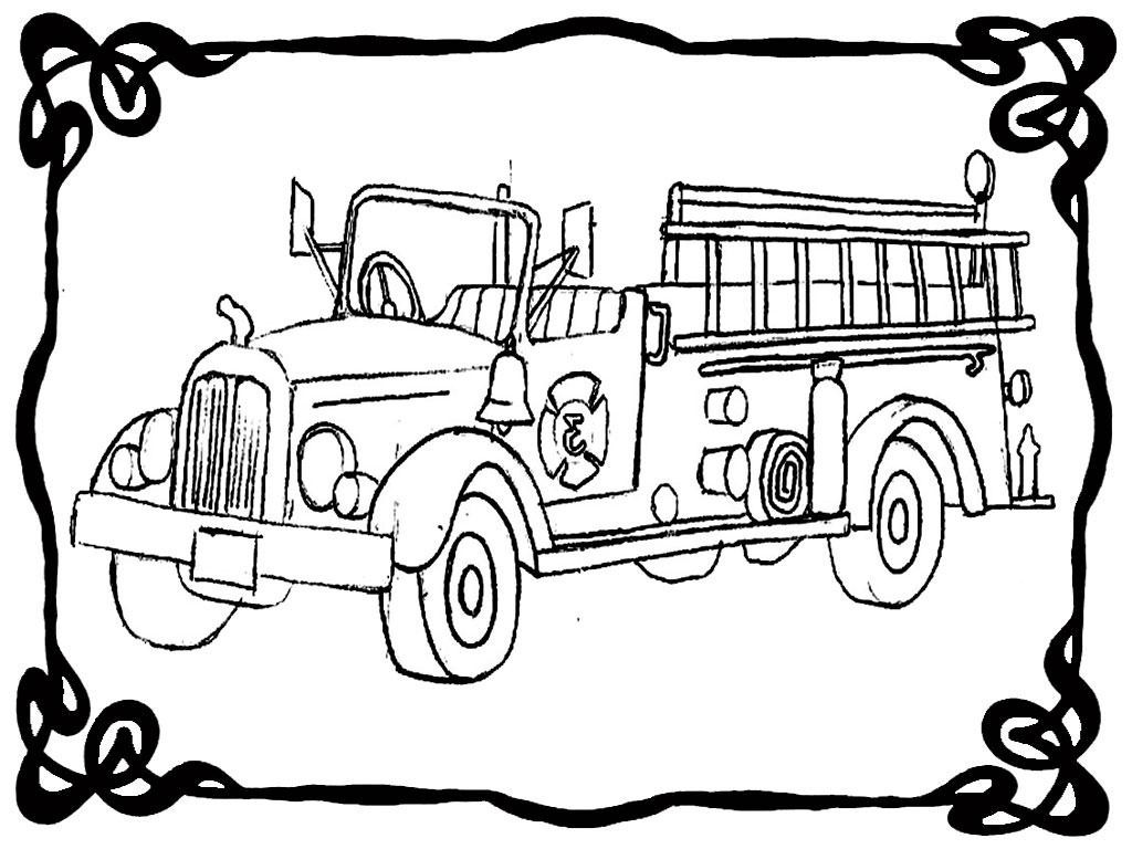 how to draw fire truck fire truck line drawing at getdrawings free download to draw truck how fire