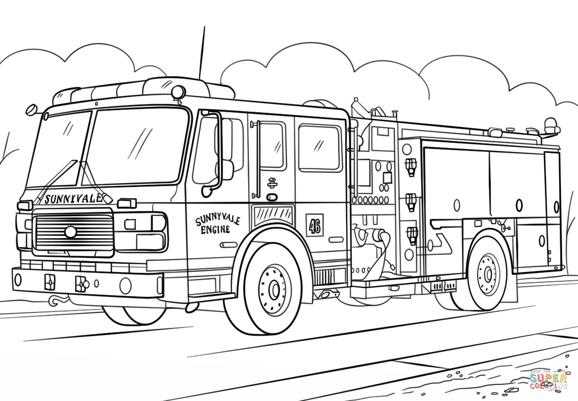 how to draw fire truck fire truck line drawing at paintingvalleycom explore to truck fire how draw