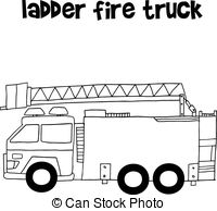 how to draw fire truck fire truck vector illustration fire draw truck to how