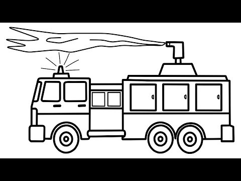 how to draw fire truck how to draw fire truck easy step by step jelly colors truck fire how draw to