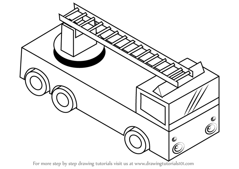how to draw fire truck learn how to draw fire truck with ladder trucks step by how to draw fire truck