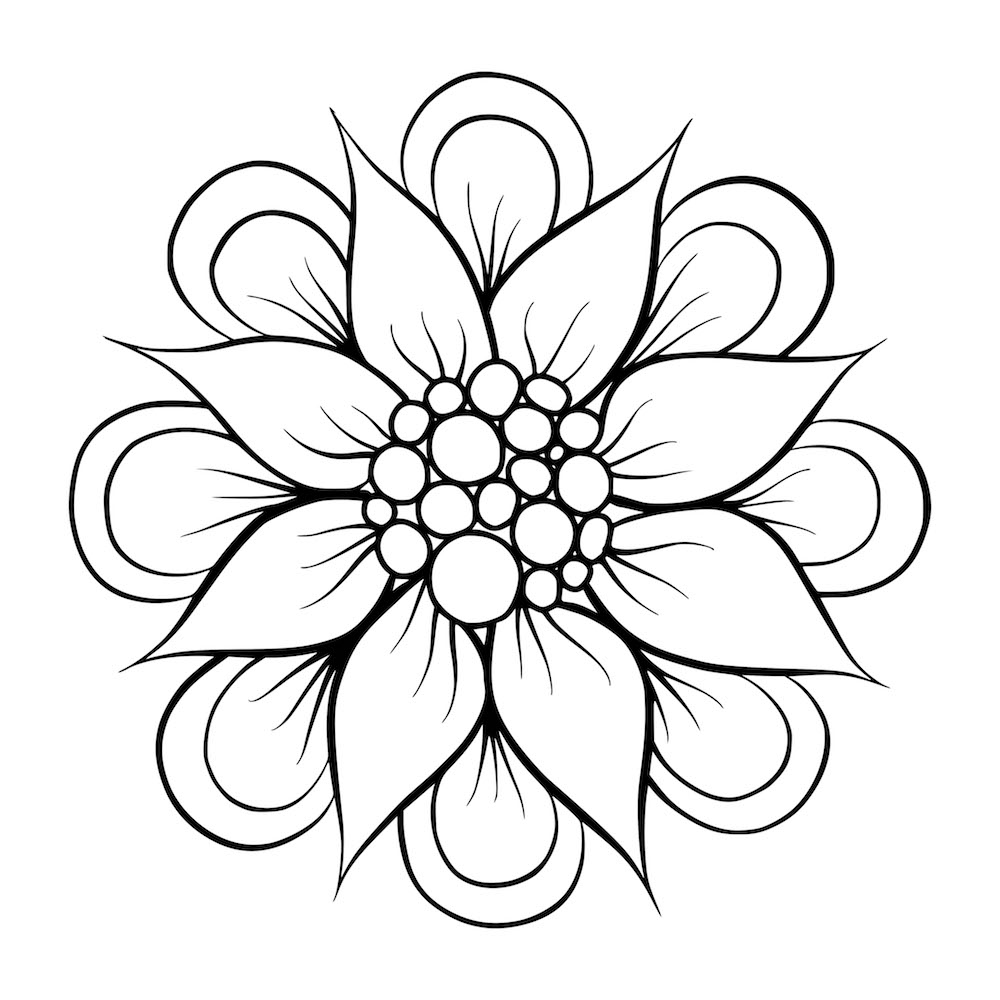 how to draw flowers draw a flower for easy flower drawings flower drawing how to flowers draw