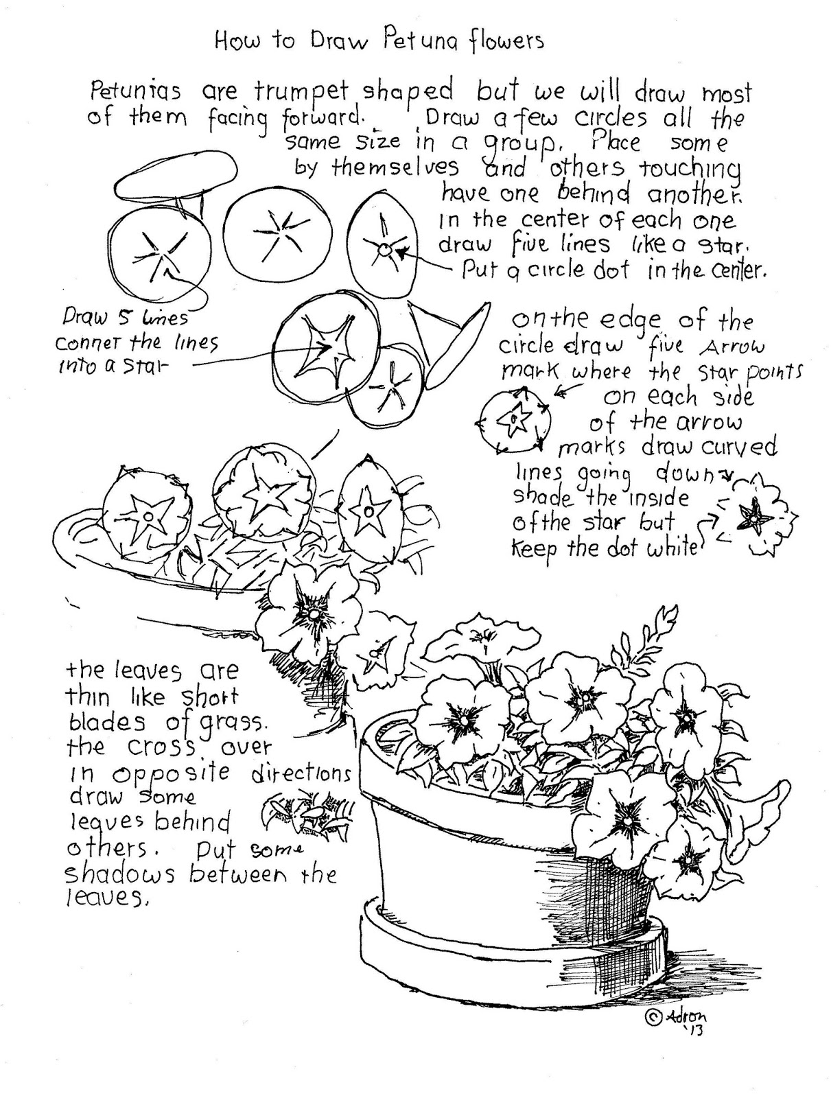 how to draw flowers how to draw worksheets for the young artist how to draw how flowers draw to