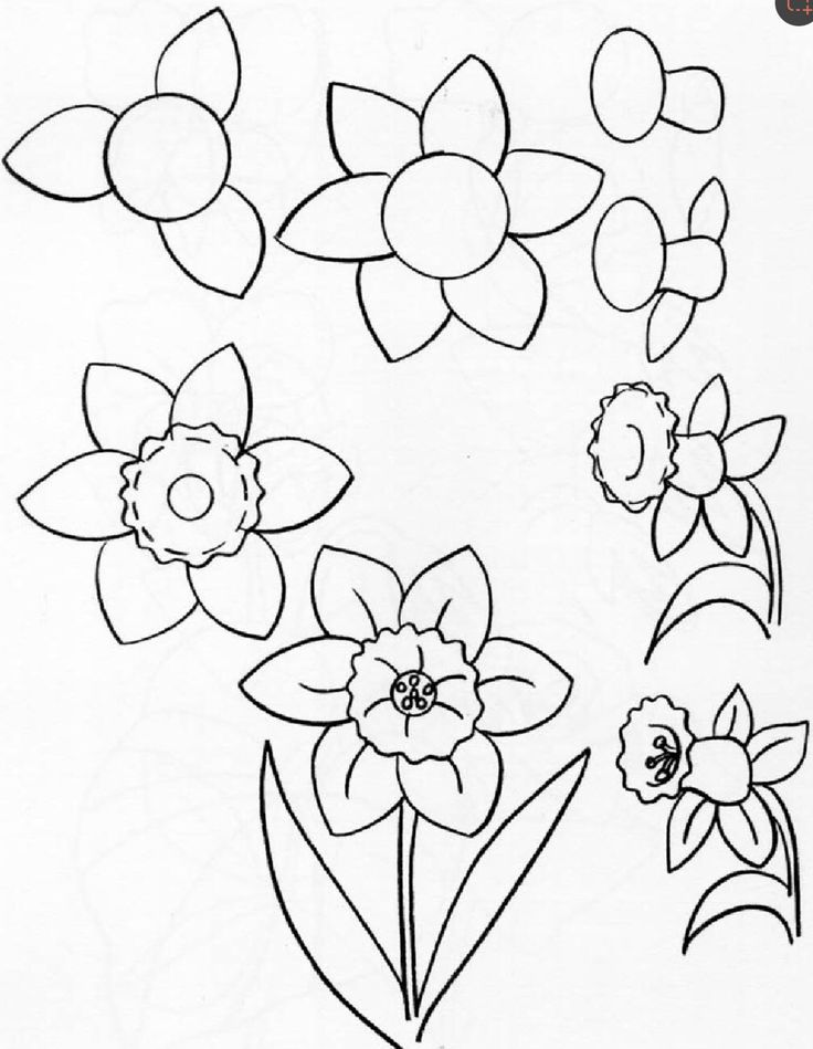 how to draw flowers simple flower doodles step by step tutorial for art how flowers draw to