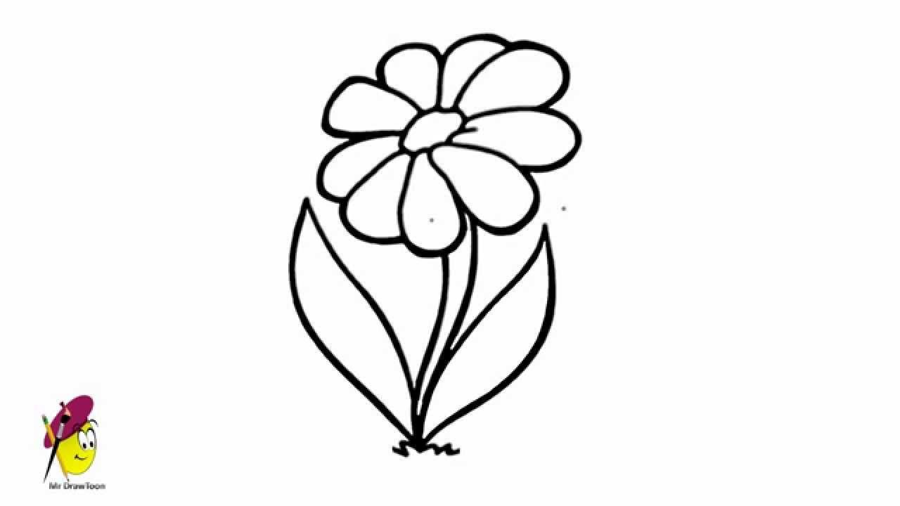 how to draw flowers simple flower drawing how to draw flower very easy how flowers draw to