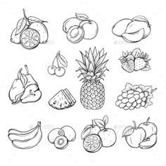 how to draw fruit hand draw fruit various style doodles vector illustration fruit how to draw